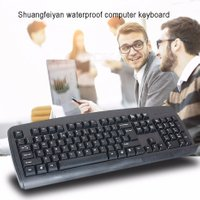 KB-8 Portable Waterproof 104-Key USB Wired Game Keyboard For Desktop Computer PC Black