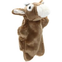 Lovely Donkey Hand Puppet Kids Children Soft Doll Funny Interactive Family Game Plush Toy Gift For Children Adult