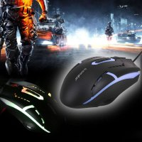 USB Wired 2400DPI Optical Adjustable Mouse 6D Buttons Wired Gaming Mice Mouse Backlight Computer PC Game Mouse for Pro Gamer