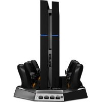 Vertical Game Console Stand Cooler Dual 4x USB Gamepad Game Controller Charger Dock Stand for Playstation 4 PS4 Controller